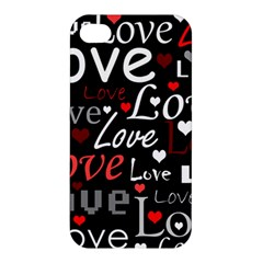 Red Love pattern Apple iPhone 4/4S Premium Hardshell Case