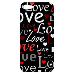 Red Love pattern Apple iPhone 5 Hardshell Case