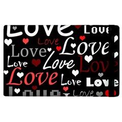 Red Love pattern Apple iPad 2 Flip Case