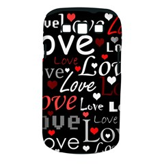 Red Love pattern Samsung Galaxy S III Classic Hardshell Case (PC+Silicone)