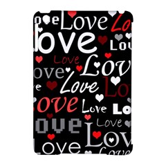 Red Love pattern Apple iPad Mini Hardshell Case (Compatible with Smart Cover)