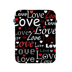 Red Love pattern Apple iPad 2/3/4 Protective Soft Cases
