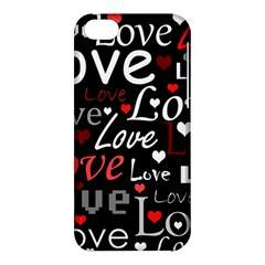 Red Love pattern Apple iPhone 5C Hardshell Case