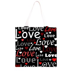 Red Love pattern Grocery Light Tote Bag