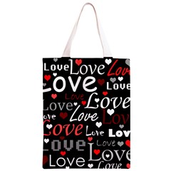 Red Love pattern Classic Light Tote Bag
