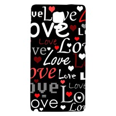 Red Love pattern Galaxy Note 4 Back Case
