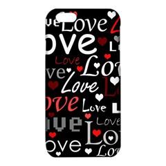 Red Love pattern iPhone 6/6S TPU Case