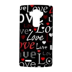 Red Love pattern LG G4 Hardshell Case
