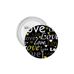 Yellow Love pattern 1.75  Buttons