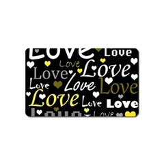 Yellow Love pattern Magnet (Name Card)