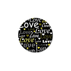 Yellow Love pattern Golf Ball Marker (4 pack)