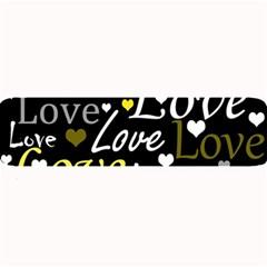 Yellow Love pattern Large Bar Mats