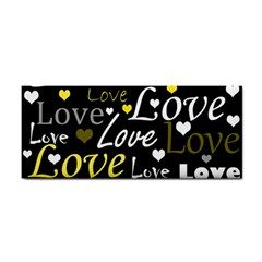 Yellow Love pattern Cosmetic Storage Cases