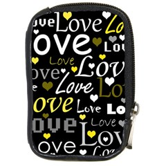 Yellow Love pattern Compact Camera Cases
