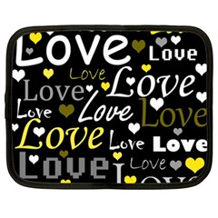 Yellow Love pattern Netbook Case (XXL)