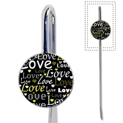 Yellow Love pattern Book Mark