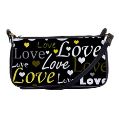 Yellow Love pattern Shoulder Clutch Bags