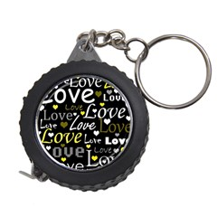Yellow Love pattern Measuring Tapes