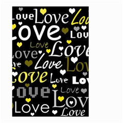 Yellow Love pattern Small Garden Flag (Two Sides)