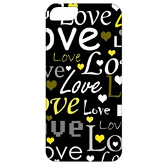 Yellow Love pattern Apple iPhone 5 Classic Hardshell Case
