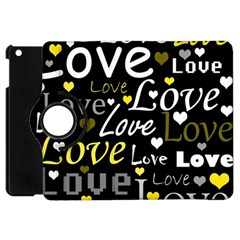Yellow Love pattern Apple iPad Mini Flip 360 Case