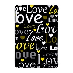 Yellow Love pattern Apple iPad Mini Hardshell Case (Compatible with Smart Cover)