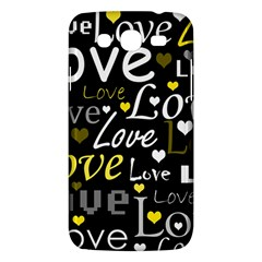 Yellow Love pattern Samsung Galaxy Mega 5.8 I9152 Hardshell Case