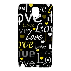 Yellow Love pattern Samsung Galaxy Note 3 N9005 Hardshell Case
