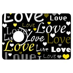 Yellow Love pattern Kindle Fire HDX Flip 360 Case