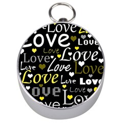 Yellow Love pattern Silver Compasses