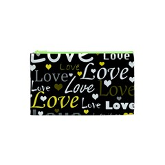 Yellow Love pattern Cosmetic Bag (XS)