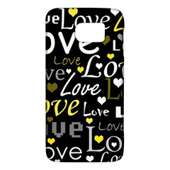 Yellow Love pattern Galaxy S6