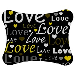 Yellow Love pattern Jigsaw Puzzle Photo Stand (Bow)