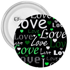 Green Valentine s day pattern 3  Buttons