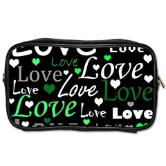 Green Valentine s day pattern Toiletries Bags 2-Side