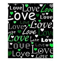Green Valentine s day pattern Shower Curtain 60  x 72  (Medium)
