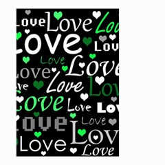 Green Valentine s day pattern Small Garden Flag (Two Sides)