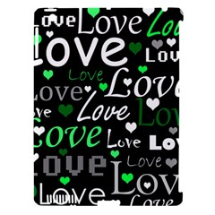 Green Valentine s day pattern Apple iPad 3/4 Hardshell Case (Compatible with Smart Cover)