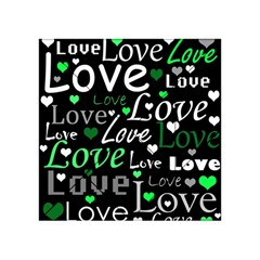 Green Valentine s day pattern Acrylic Tangram Puzzle (4  x 4 )