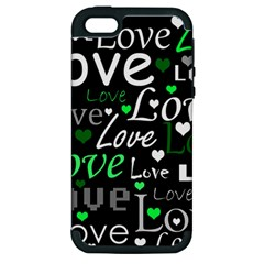 Green Valentine s day pattern Apple iPhone 5 Hardshell Case (PC+Silicone)