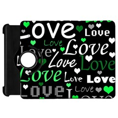 Green Valentine s day pattern Kindle Fire HD 7