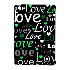 Green Valentine s day pattern Apple iPad Mini Hardshell Case (Compatible with Smart Cover)