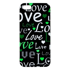 Green Valentine s day pattern Apple iPhone 5 Premium Hardshell Case