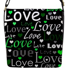 Green Valentine s day pattern Flap Messenger Bag (S)