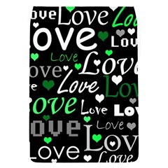 Green Valentine s day pattern Flap Covers (S)