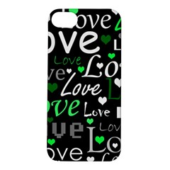 Green Valentine s day pattern Apple iPhone 5S/ SE Hardshell Case