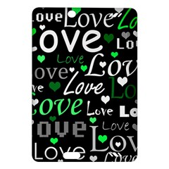Green Valentine s day pattern Amazon Kindle Fire HD (2013) Hardshell Case