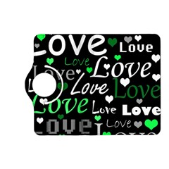 Green Valentine s day pattern Kindle Fire HD (2013) Flip 360 Case