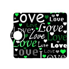 Green Valentine s day pattern Kindle Fire HDX 8.9  Flip 360 Case