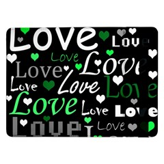 Green Valentine s day pattern Samsung Galaxy Tab Pro 12.2  Flip Case